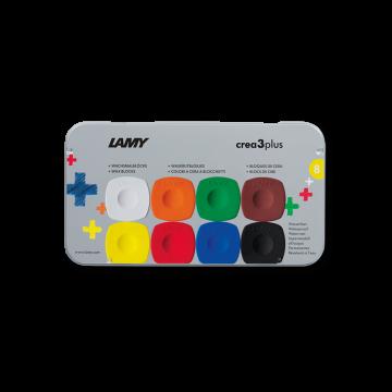 LAMY Wachsmalblöcke crea 3 plus 德国 凌美 3 plus 8色水溶性画棒