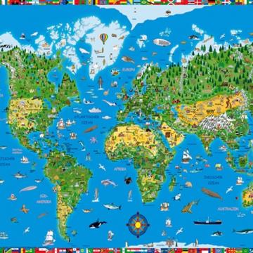 摩尔(moll) 德国Moll 写字垫 海盗 世界地图 星空