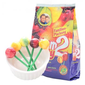 德国二宝nimm2lolly水果汁镇魂棒棒糖多种维生素