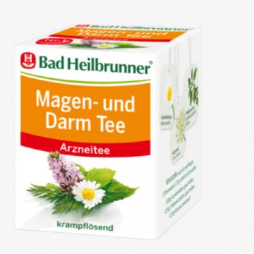 德国Bad Heilbrunner海乐泉缓解肠胃不适肠胃茶8小包